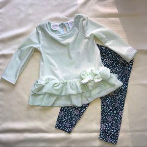 Koala kids mint pant outfit size 6-9 months